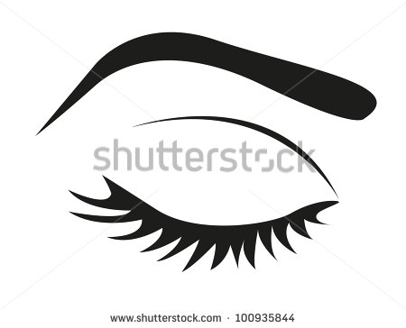Female Eyes Closed Clipart.