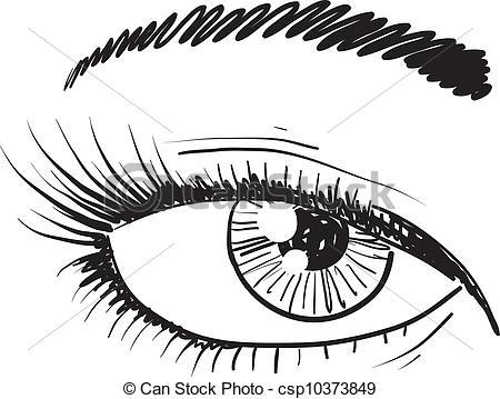 Clipart Vector of Eyes vector sketch.