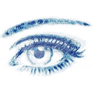 Vector Illustration of scribble eye, vector.
