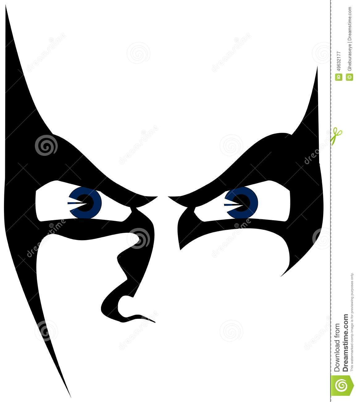 Sketch Of Isolated Eyes With Angry Look Stock Illustration.