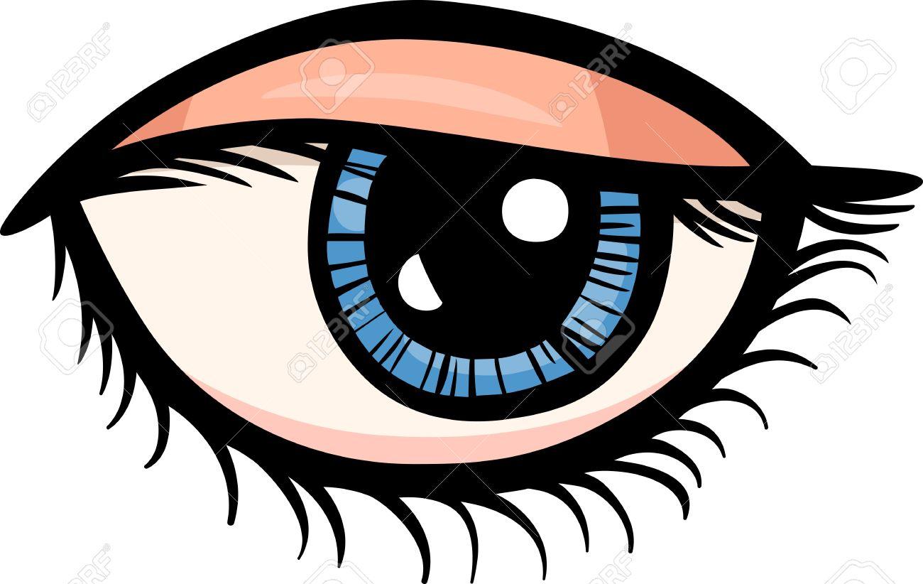 Cartoon Illustration Of Human Eye Clip Art Royalty Free Cliparts.