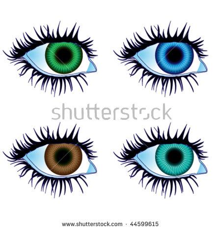 Illustration eyes of body parts #44599711.