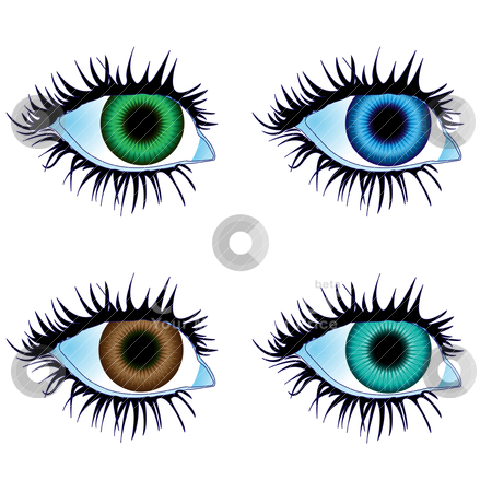 Eyes of body parts stock vector.