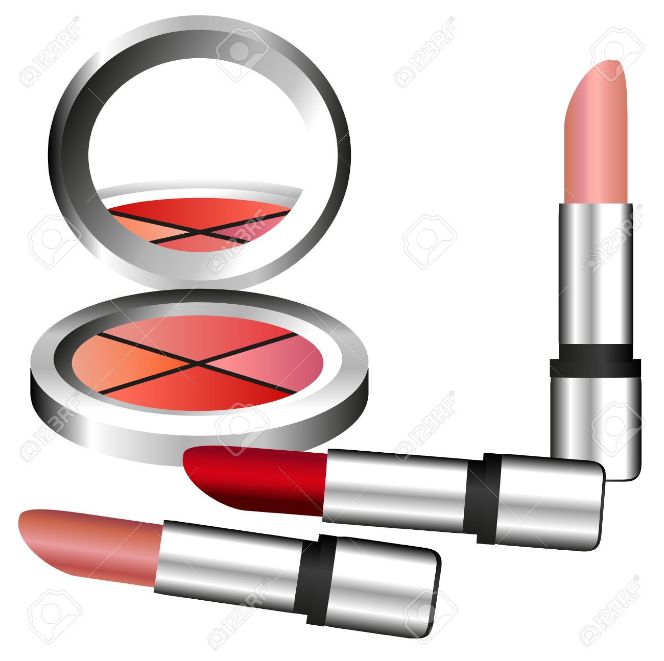 Eye shadow makeup clipart.