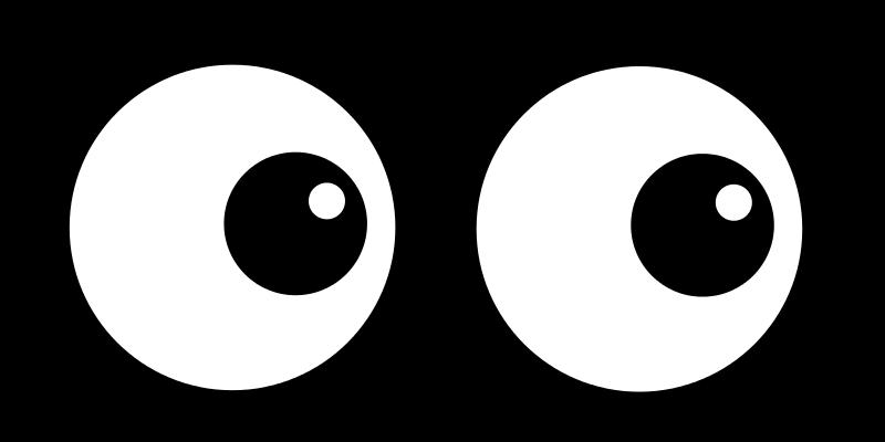 Round eye clipart.