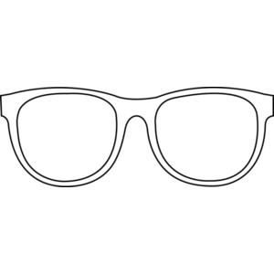 Sunglasses Transparent Line Art Free Clip Art.