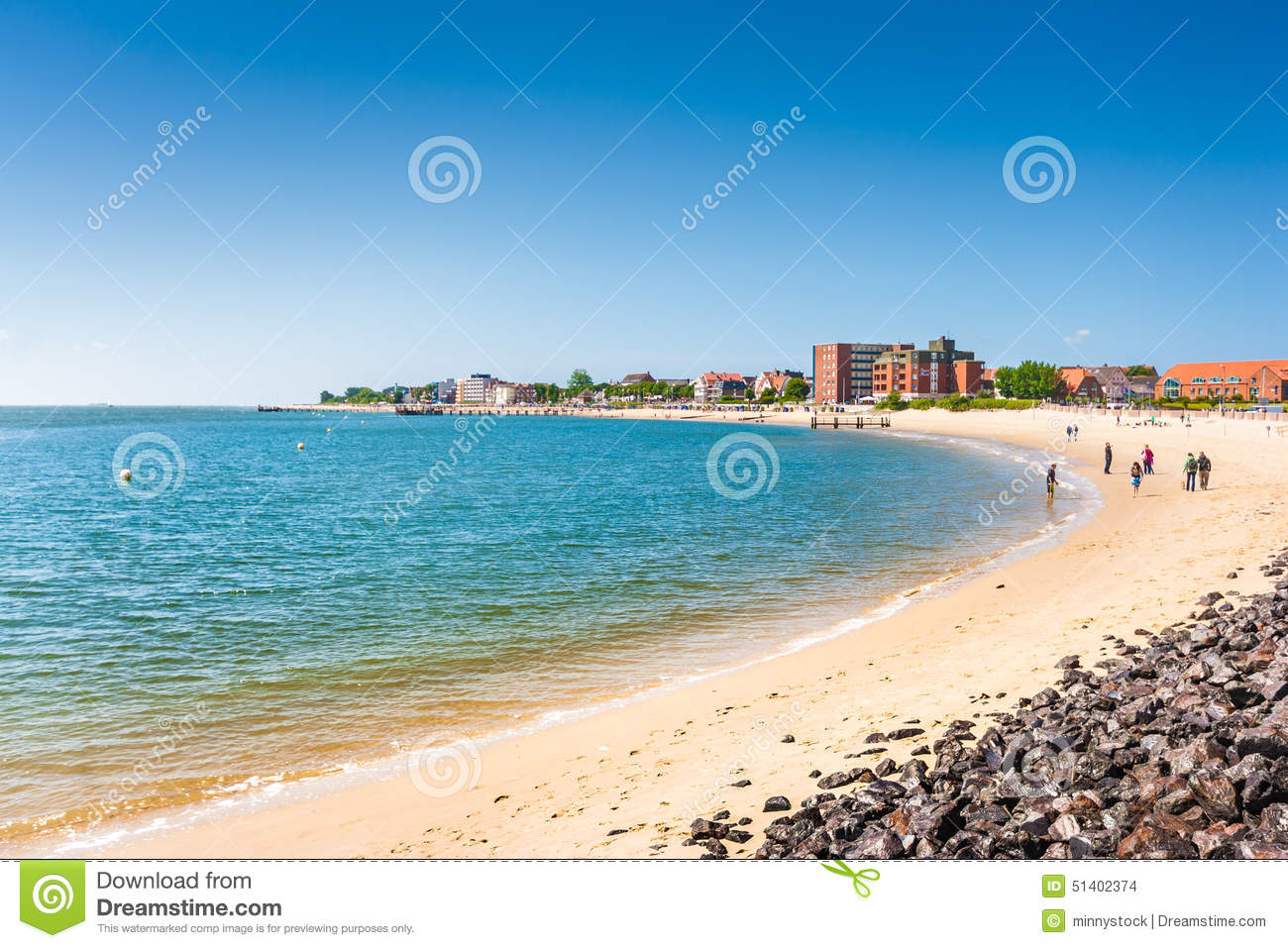 Beautiful Beach Landscape On The Island Of Foehr, The Second.