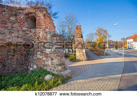 Picture of Niederlagetor Gate, Fuerstenwalde, Germany k12078877.