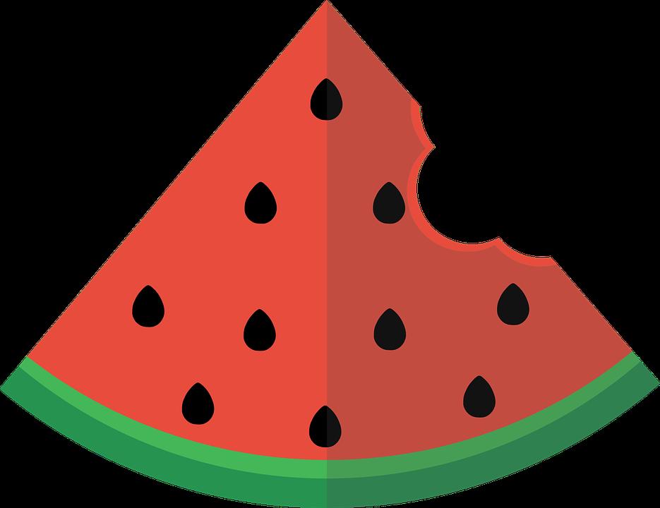 Free photo Watermelon Slice Flat.