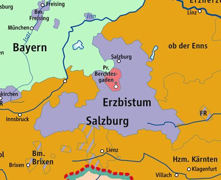 Fürsterzbistum Salzburg.