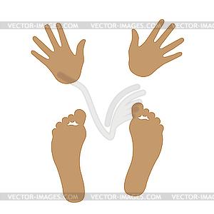 von Händern und Füßen.