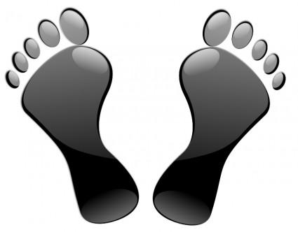 Schwarze Füße.