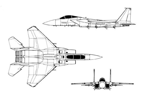 F 15e clipart.