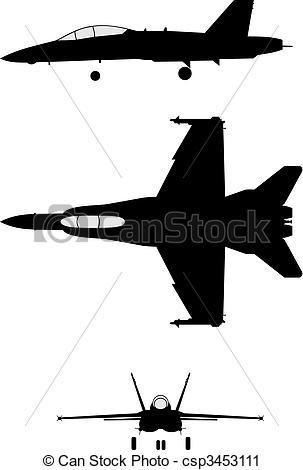 F 18 clipart.