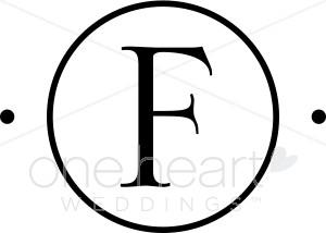 Monogram F Clipart.