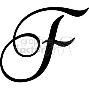 monogrammed f clipart. Royalty.