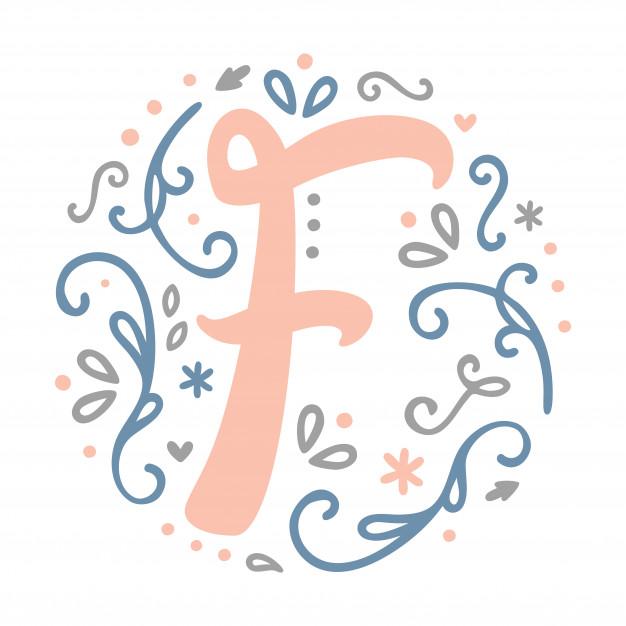 f \' letter monogram design.