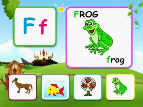 Alphabet reading for kids with words.