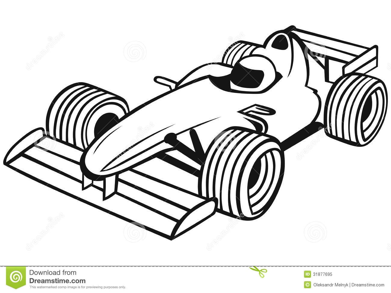 F1 car clipart.