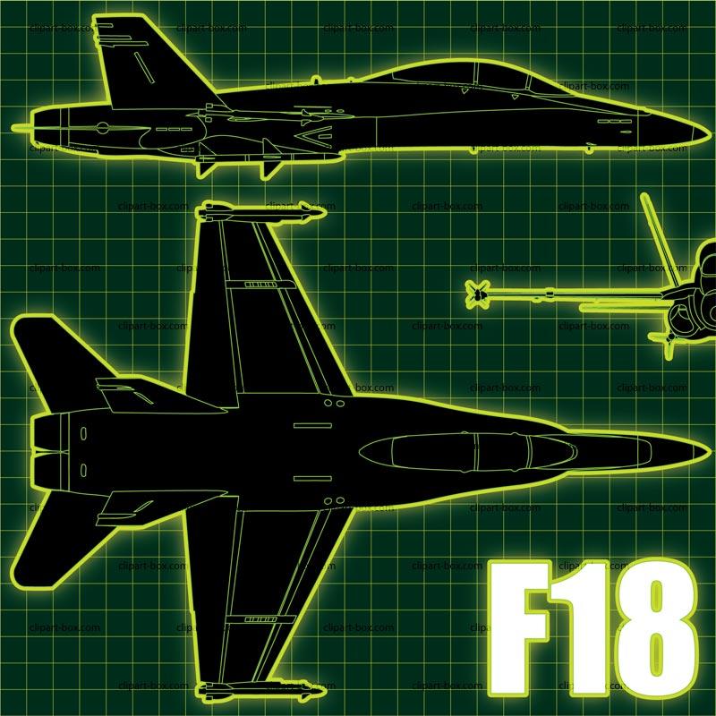 CLIPART F18 BLUEPRINT.