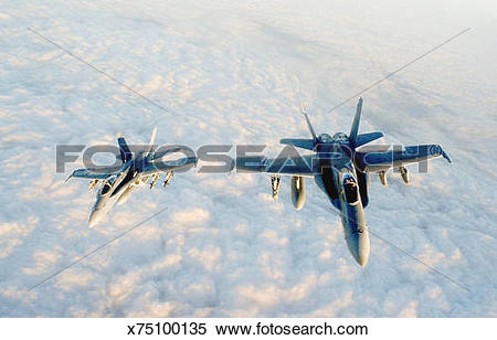 Stock Image of Two McDonnell Douglas F.