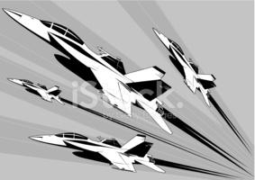 F 18 Super Hornet Formation stock photos.