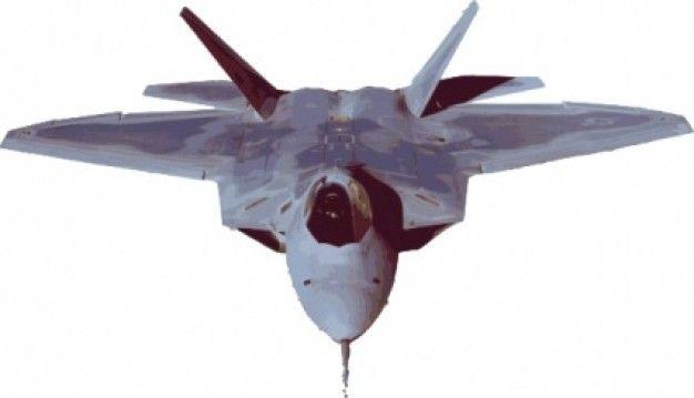 Fighter Jet Plane clip art Vector.