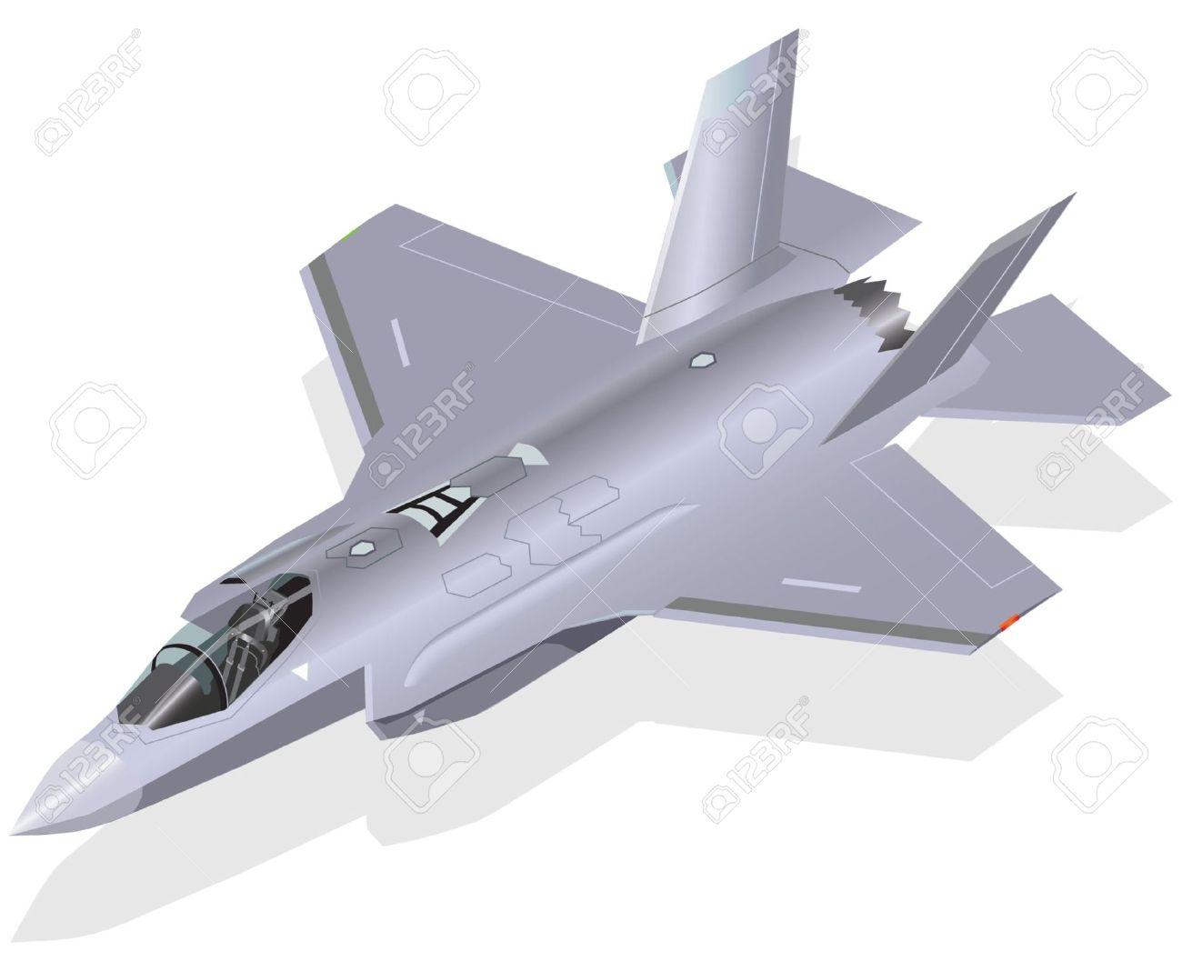 F 35 clipart.