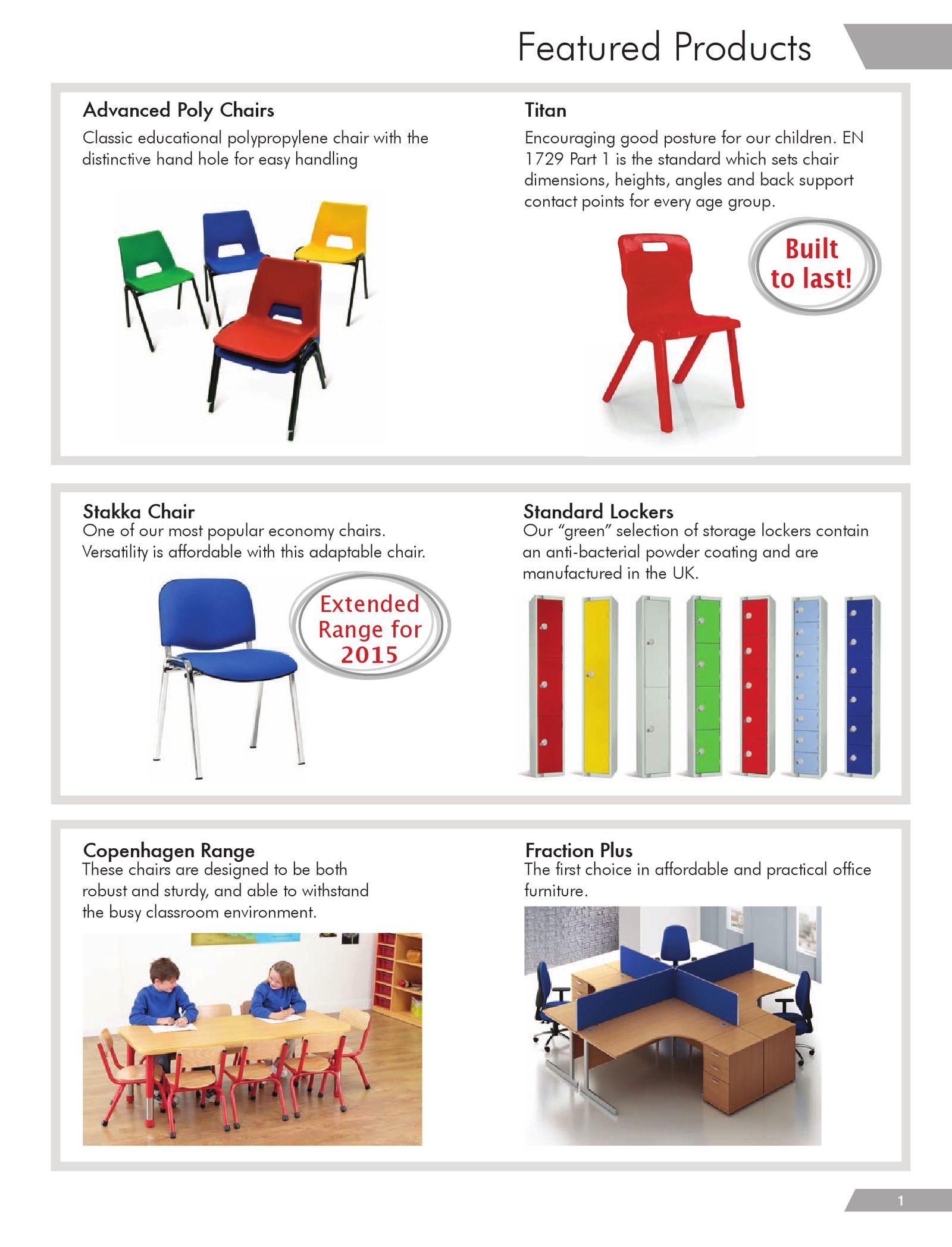 F4E Furniture4Education 2015 Catalogue.