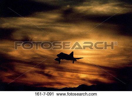Stock Photography of Sunrise, Flying, Outdoors, USA, F4E, Flight.