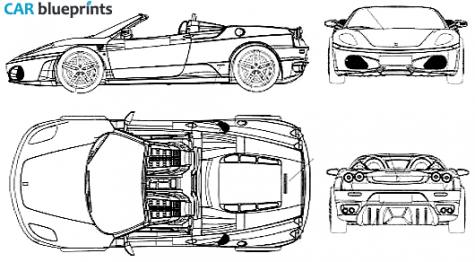 F430 clipart clipground 2005 ferrari f430 spider cabriolet blueprint car blueprints malvernweather Choice Image