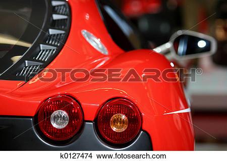 Stock Photo of Ferrari F430 Challenge Detail k0127474.