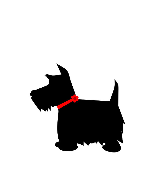 Scottie dog silhouette clip art.