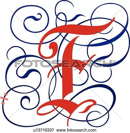 Clip Art of Gothic letter F u13716337.