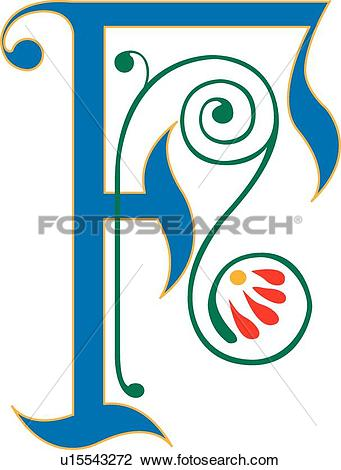 Clipart of Letter F u15543272.