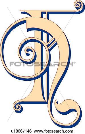 Clip Art of Lubna letter F u18667146.