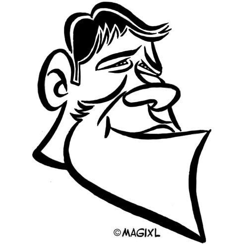 caricature clipart star sport rugby.