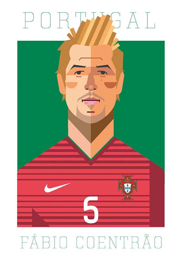 Portuguese national team illustrations on Behance.