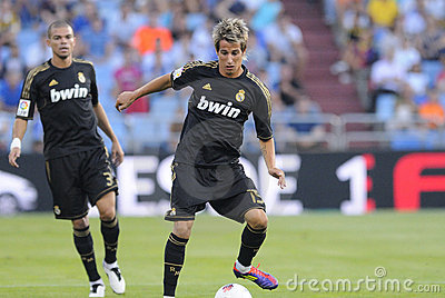 Fabio Coentrao (Real Madrid) Editorial Stock Image.