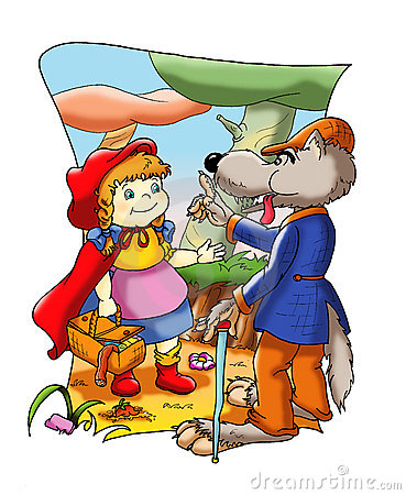 Fable Of Little Red Riding Hood Royalty Free Stock Image.