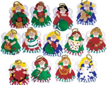 fabric angel ornaments.