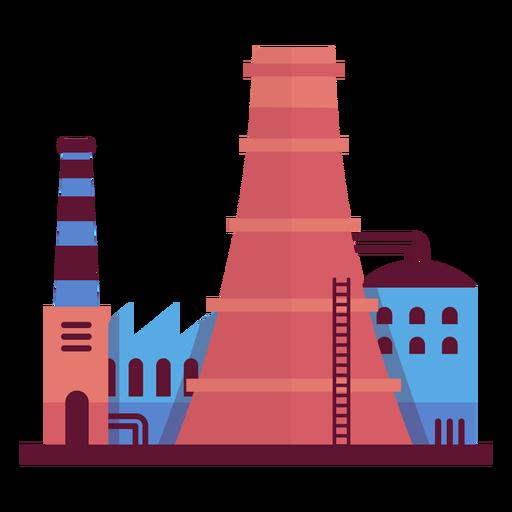 Ilustración Industrial De La Fábrica.