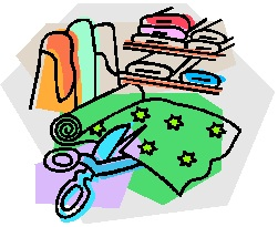 Clipart with matching fabric.