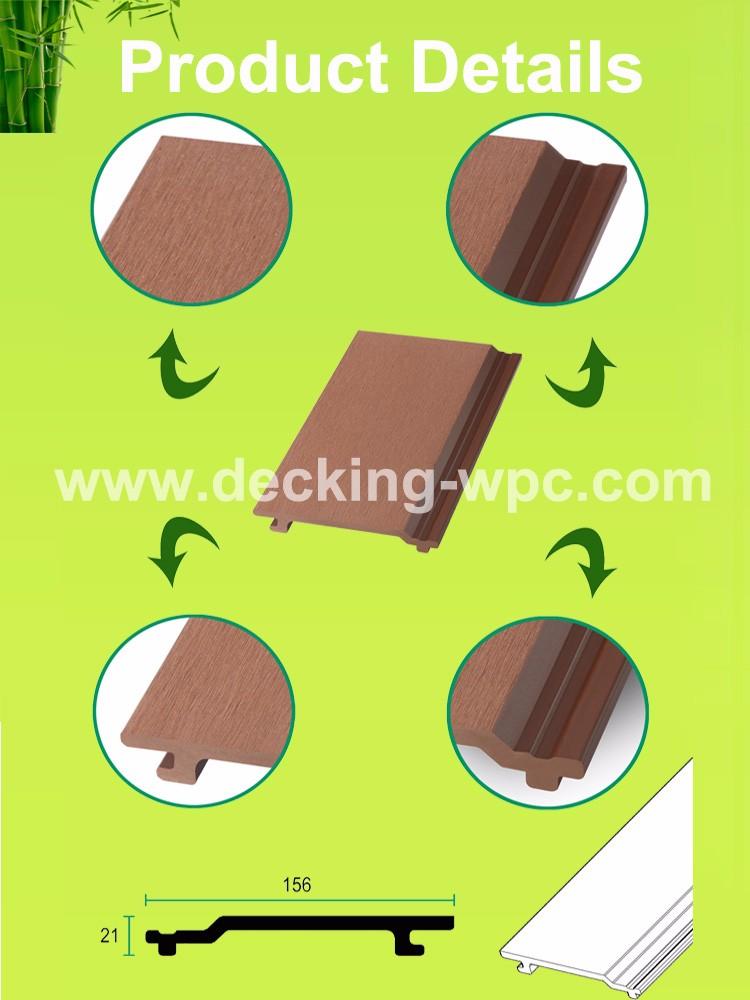 Standard Non Slip Wpc Wall Facade Cladding Permanent.
