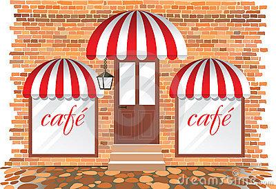 Cafe Facade Royalty Free Stock Photography.