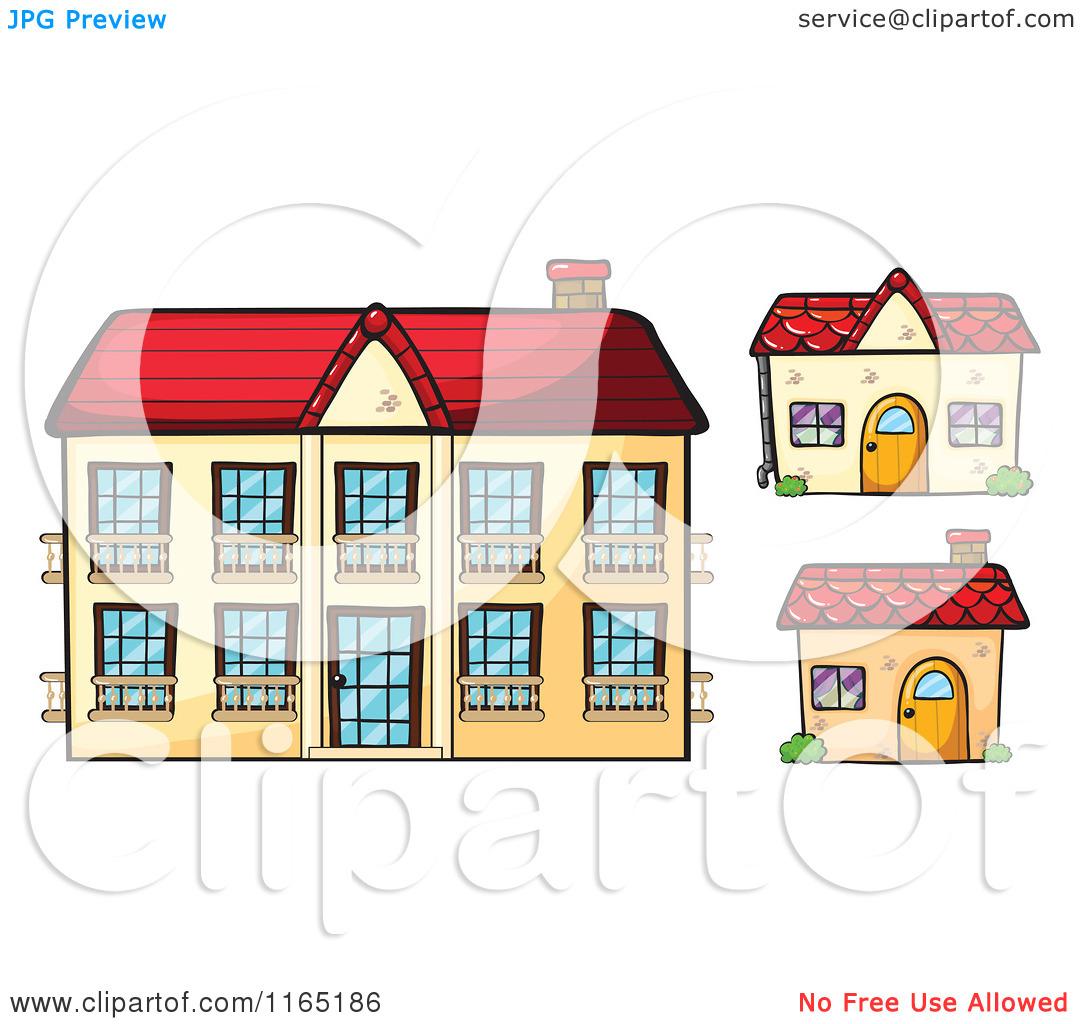 Cartoon of Building Facade Store Fronts 7.