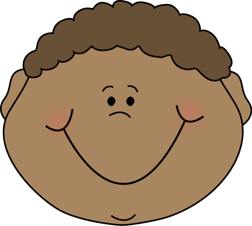 Happy Kids Face Clipart.