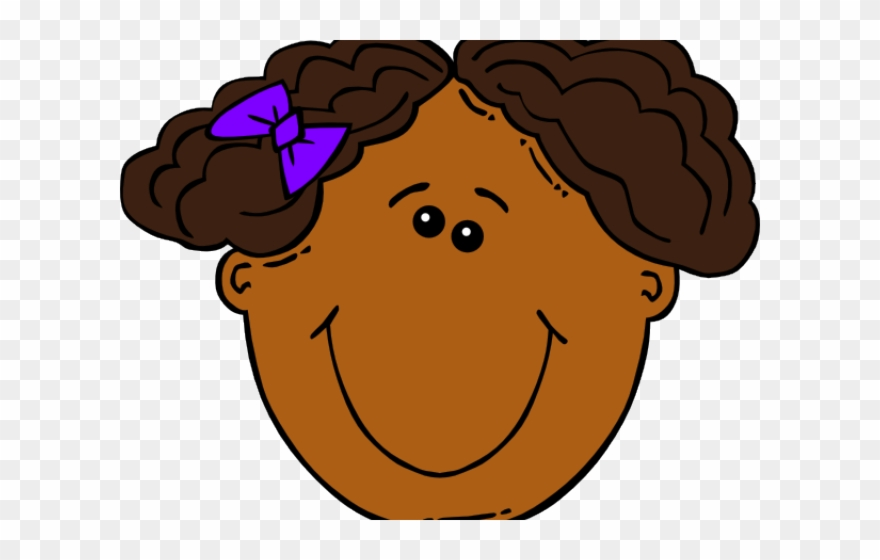 Girl Face Cartoon Clipart.