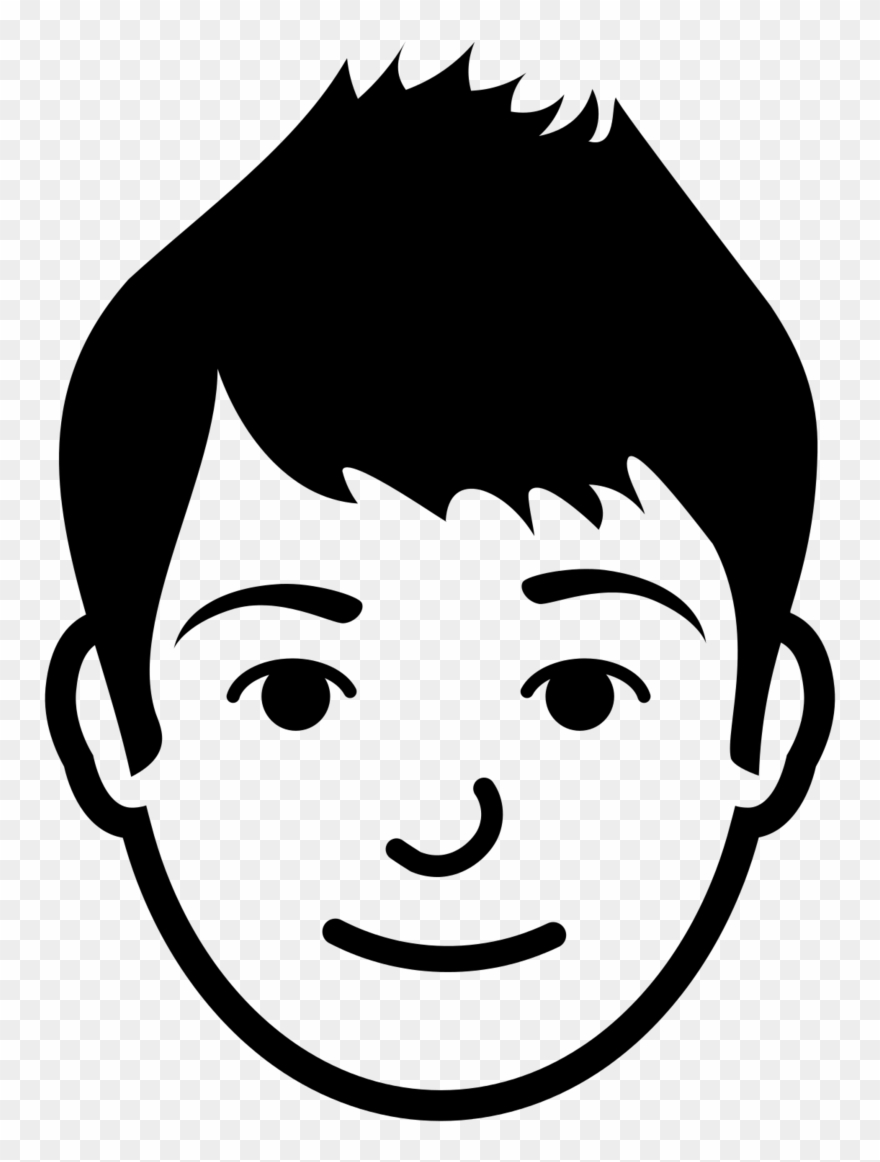 Brother Face Clipart Black And White.