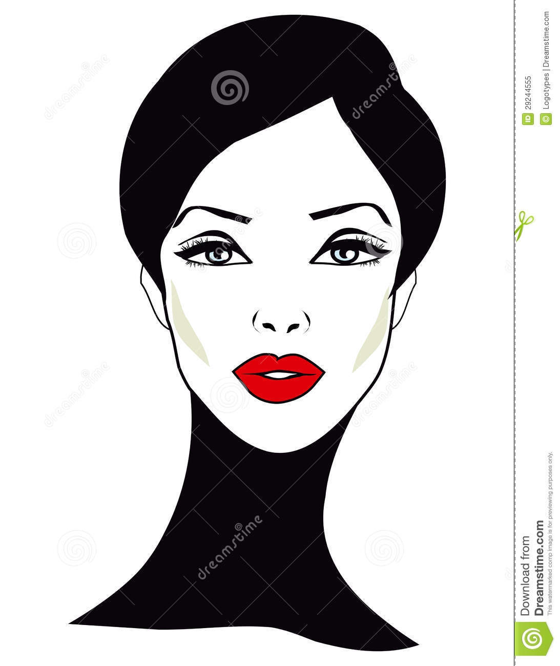 Woman Face Clipart#1870890.